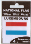 Luxembourg Country Flag Tattoos.